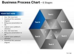 PowerPoint Backgrounds Process Hexagon Pie Chart Ppt Slide
