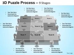 PowerPoint Backgrounds Process Puzzle Process Ppt Backgrounds