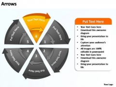 PowerPoint Backgrounds Sales Flow Of Circular Ppt Process