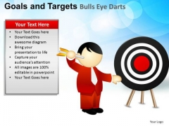 PowerPoint Backgrounds Sales Goals And Targets Ppt Slide