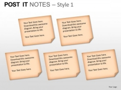 PowerPoint Backgrounds Sales Post It Notes Ppt Slide