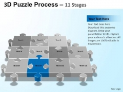 PowerPoint Backgrounds Sales Puzzle Process Ppt Template