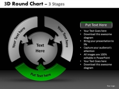 PowerPoint Backgrounds Sales Round Chart Ppt Slide