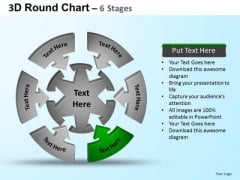 PowerPoint Backgrounds Sales Round Process Flow Chart Ppt Theme