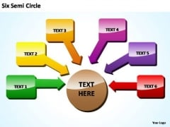 PowerPoint Backgrounds Sales Semi Circle Training Ppt Themes