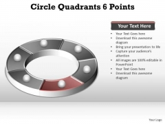 PowerPoint Backgrounds Strategy Circle Quadrants Ppt Theme