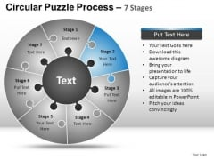 PowerPoint Backgrounds Strategy Circular Puzzle Ppt Slidelayout