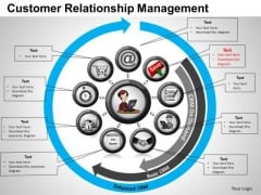 PowerPoint Backgrounds Strategy Customer Relationship Ppt Slides
