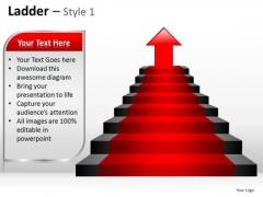 PowerPoint Backgrounds Strategy Ladder Ppt Design Slides