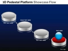 PowerPoint Backgrounds Strategy Pedestal Platform Showcase Ppt Slides