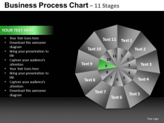 PowerPoint Backgrounds Strategy Pie Chart Ppt Slide