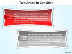 PowerPoint Backgrounds Strategy Two Areas Ppt Presentation