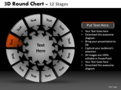 PowerPoint Backgrounds Success Round Chart Ppt Slide