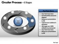 PowerPoint Backgrounds Teamwork Circular Process Ppt Slide