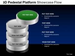 PowerPoint Backgrounds Teamwork Pedestal Platform Showcase Ppt Themes