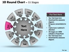 PowerPoint Backgrounds Teamwork Pie Chart With Arrows Ppt Template