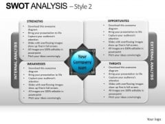 PowerPoint Backgrounds Teamwork Swot Analysis Ppt Slide