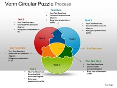 PowerPoint Backgrounds Venn Diagram Puzzle Ppt Template