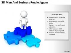PowerPoint Business Man And New Presentation Puzzle Jigsaw Slides