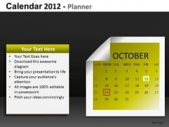 PowerPoint Calendar October 2012