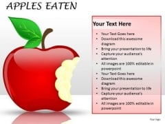 PowerPoint Clipart Showing Eaten Apple PowerPoint Slides Graphics