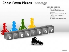 PowerPoint Company Strategy Chess Pawn Ppt Process