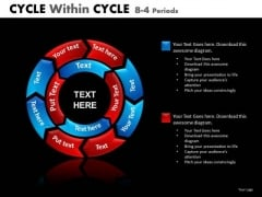 PowerPoint Cycle Chart Process Slides 8 Stage 2 Layers
