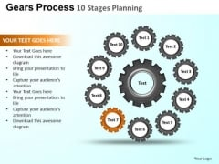 PowerPoint Design Business Gears Process Ppt Template