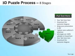 PowerPoint Design Business Success Puzzle Segment Pie Chart Ppt Slide