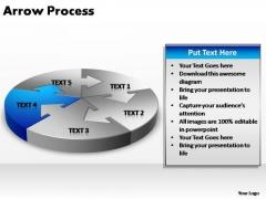 PowerPoint Design Chart Circular Arrow Ppt Theme