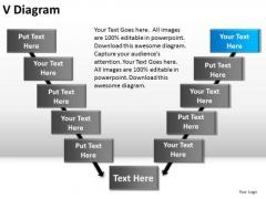 PowerPoint Design Chart V Diagram Ppt Slide