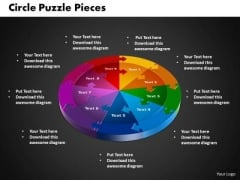 PowerPoint Design Circle Puzzle Business Ppt Backgrounds