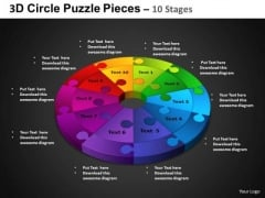 PowerPoint Design Circular Process Circle Puzzle Diagram Ppt Process