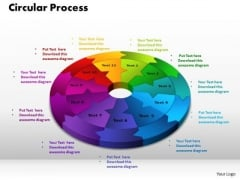 PowerPoint Design Circular Process Teamwork Ppt Backgrounds