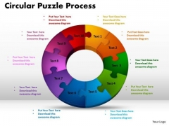 PowerPoint Design Circular Puzzle Process Leadership Ppt Designs