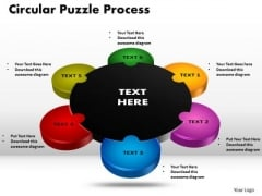PowerPoint Design Circular Puzzle Process Ppt Slides