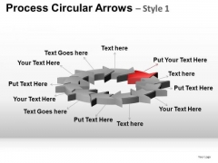 PowerPoint Design Corporate Success Process Circular Arrows Ppt Design