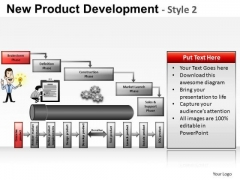 PowerPoint Design Corporate Teamwork New Product Development Ppt Design