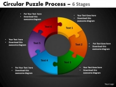PowerPoint Design Cycle Chart Circular Puzzle Ppt Slides