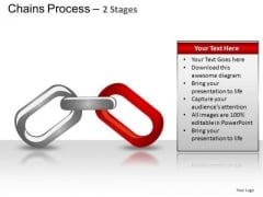 PowerPoint Design Diagram Chains Process Ppt Design