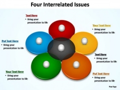 PowerPoint Design Diagram Four Interrelated Ppt Template