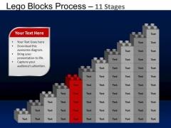 PowerPoint Design Diagram Lego Blocks Ppt Design