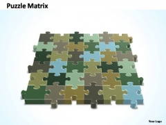 PowerPoint Design Editable 6x6 Rectangular Jigsaw Puzzle Matrix Ppt Theme