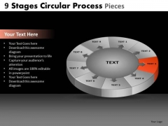 PowerPoint Design Editable Circular Process Ppt Theme