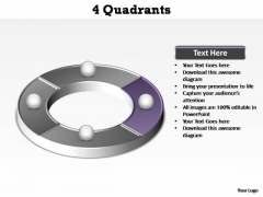 PowerPoint Design Education Quadrants Ppt Backgrounds