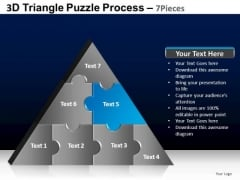 PowerPoint Design Education Triangle Puzzle Ppt Backgrounds