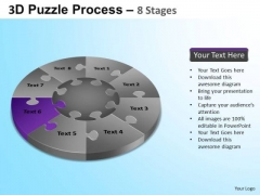 PowerPoint Design Executive Competition Puzzle Segment Pie Chart Ppt Themes