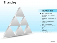 PowerPoint Design Executive Competition Triangles Ppt Templates