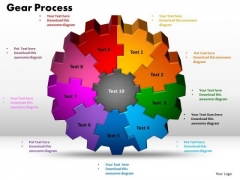 PowerPoint Design Gear Process Strategy Ppt Presentation