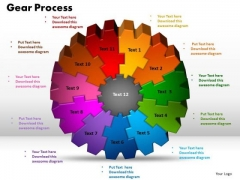 PowerPoint Design Gear Process Success Ppt Slide